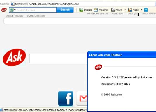 Фото - Ask toolbar. що це?