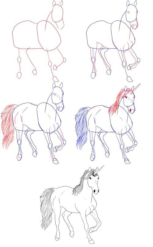 Фото - Як намалювати єдинорога