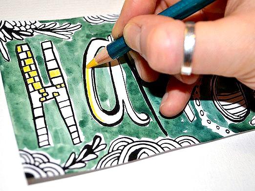 Фото - Як намалювати листівку?