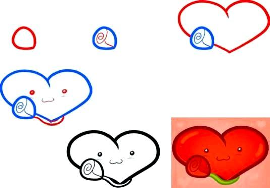 Фото - Як намалювати серце олівцем поетапно?