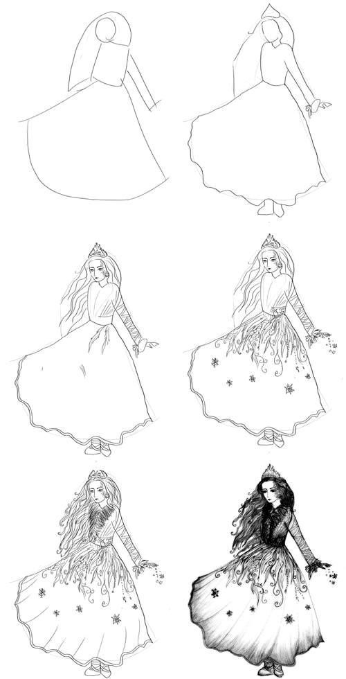 Фото - Як намалювати Снігову Королеву