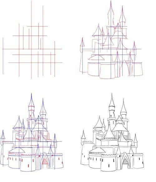 Фото - Як намалювати замок
