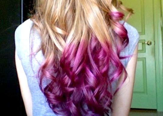 Фото - Як пофарбувати кінчики волосся?