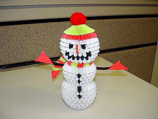 Фото - Як зробити сніговика з паперу?
