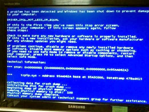 Фото - Чому з'являється синій екран?