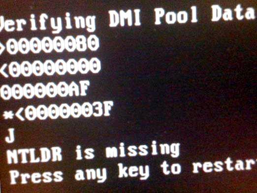 Фото - Що робити ntldr is missing?